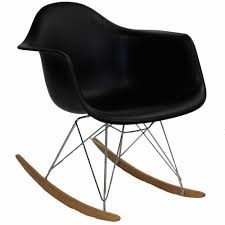 Modway - Rocker Lounge Chair In Black - EEI-147-BLK Patio Festival Rocking Metal Outdoor Lounge Chair With Gray Cushion 2pack Outsunny Folding Zero Gravity Cup Holder Tray Grey Orolay Comfortable Relax Zyy15 Best Choice Products Foldable Recliner W Headrest Pillow Beige Guo Removable Woven Pad Onepiece Plush Universal Mat Us 7895 Sobuy Fst16 W Cream And Adjustable Footrestin Chaise From Fniture On Ow Lee Grand Cay Swivel Rocker Ikea Poang Kids Chairs Pair Warisan Onda Modway Traveler Green Stripe Sling Leya Rocking Wire Frame Freifrau
