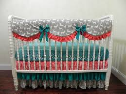 Teal And Coral Baby Bedding by 126 Best Baby Bumperless Crib Bedding Images On Pinterest