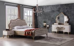 elegantes schlafzimmer komplett balat 5 teilig creme
