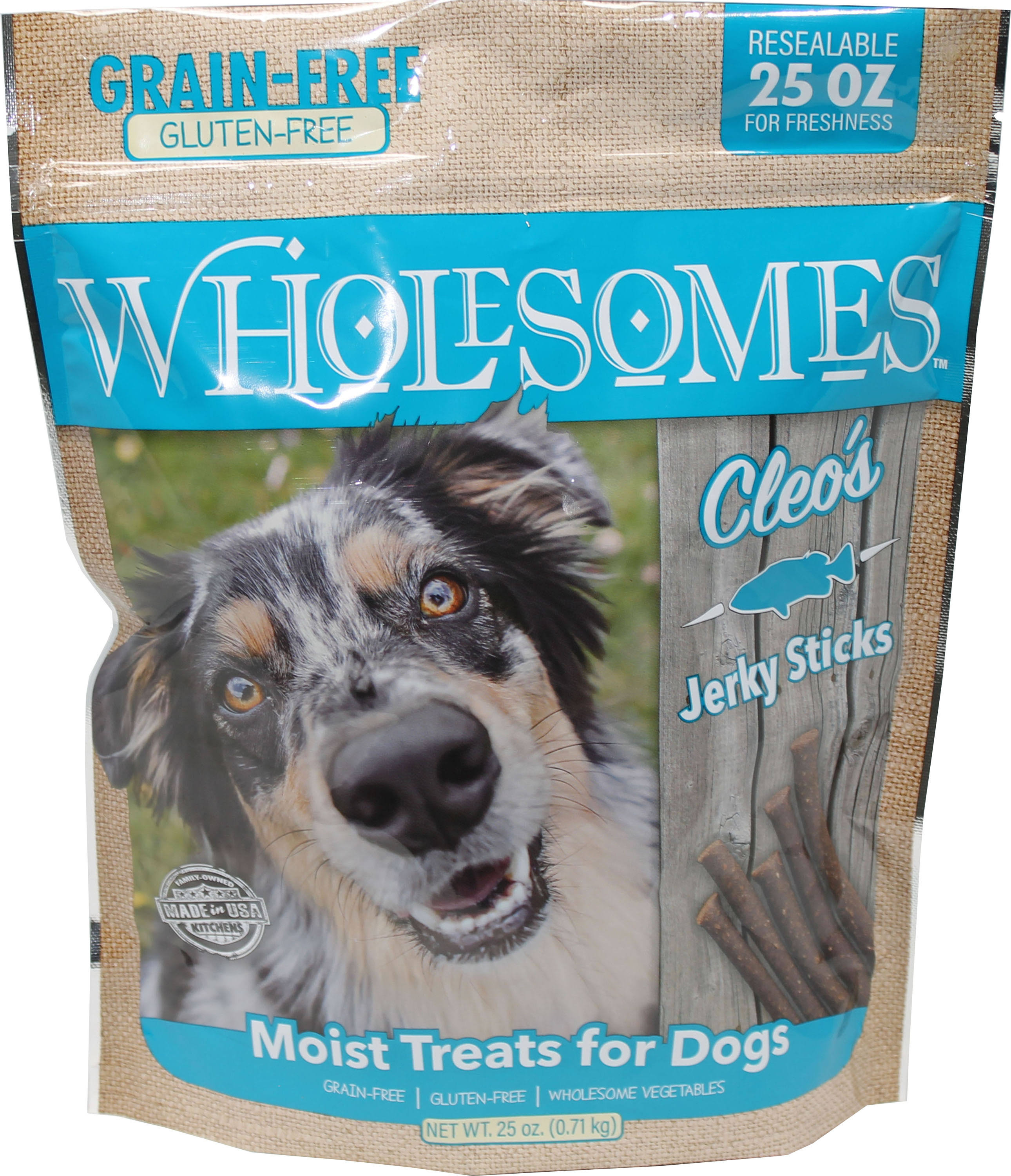 Wholesomes Cleo's Jerky Sticks Grain Free Dog Treats, 25 oz