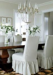 Dazzling Design Ideas White Dining Room Chair Covers 10 Make Parson Slipcovers For My 8 Chairs