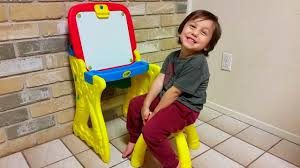 Step2 Art Master Desk And Stool by Crayola Play U0027n Fold Art Studio Review Youtube