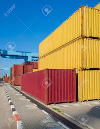 100 Cheap Sea Containers Cargo Freight Shipping Containers At The Docks Storage Area