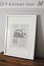 Serenity Now DIY Kitchen Wall Art Vintage Cookbook And Silhouettes