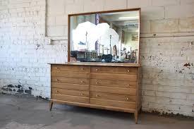 Heywood Wakefield Dresser With Mirror by Heywood Wakefield Mid Century Cadence Six Drawer Dresser With