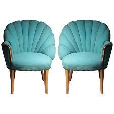 100 Regency House Furniture Vintage Asymmetrical Hollywood FanBack Chairs Grosfeld