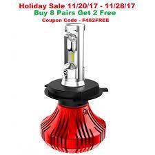 f4 led headlight bulbs 9007 bulb size