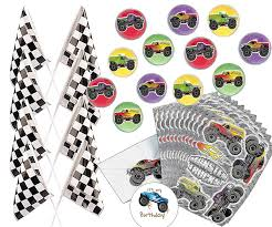 99 Monster Truck Party Favors For 12 Bounce Balls 125 Inch 12