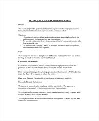 Corporate Travel Policy Template