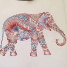 Asian Elephant Adult Coloring Books Art Therapy Animal Kingdom Mandala Doodles Tips
