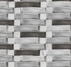 wavy glass tile as backsplash electrical outlet plate or