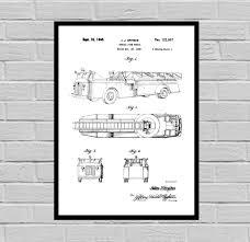 Firetruck Patent, Firetruck Poster, Firetruck Print, Firetruck Art ...