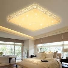 vingo 60w led kristall deckenleuchte starlight effekt mordern schlafzimmer deckenbeleuchtung warmweiß panel le 2700k 3000k