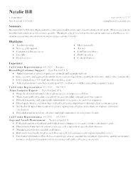 Resumes For Call Center Jobs Sample Resume Customer