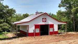 Pole Barns And Pole Building Pictures | Farm And Home Structures, LLC. Metal Barns Missouri Mo Steel Pole Barn Prices House Kits Homes Zone Plan Morton Buildings Garage And Building Pictures Farm Home Structures Llc Spray Foam Concrete Highway 76 Sales Milligans Gander Hill Galvanized Gooseneck Light Adds Fun Element To New Garages Outdoor