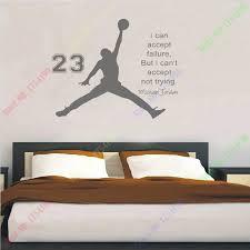 Michael Jordan Basketball Inspirational Wall Sticker Quotes Vinyl Decals Mural Art Kids Children Room Decor In Stickers From Home Garden On