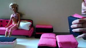 Barbie Living Room Furniture Diy by How To Make Barbie Doll A Sofa Easy Youtube