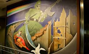 Denver Airport Murals Conspiracy Theory by At The Denver Airport Art Fuels Conspiracy Theorists