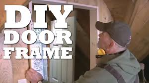 how to make a door frame youtube