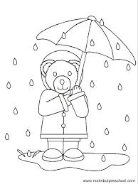 Rainy Day Coloring Pages For Preschoolers