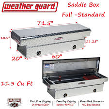127-0-02 Weather Guard Aluminum Saddle Box 71
