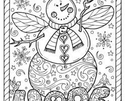 Snow Angel Instant Download Christmas Coloring Page Holidays Adult Book