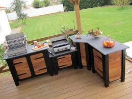 meuble cuisine exterieure bois quand la cuisine prend ses quartiers d été meuble pour