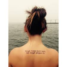 Wise Quote Upper Back Tattoo