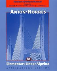 9780471382485 Elementary Linear Algebra Applications Version Student Solutions Manual