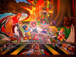 Denver International Airport Murals Removed by The Denver Airport Controversy World Mysteries Blog