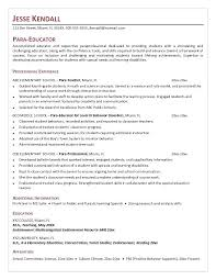 Paraprofessional Resume Examples Objective For
