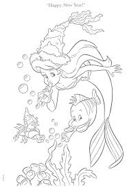 Coloring Pages The Little Mermaid New