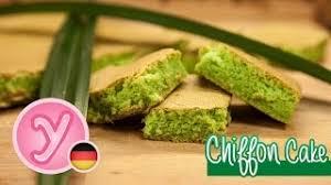 chiffon kuchen mit pandangeschmack besonders saftig und fluffig