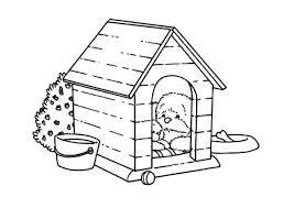 Coloring Page Dog Kennel Buildings And Architecture 42