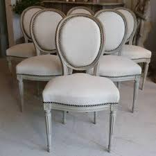 louis xvi chair antique set of six 19th century louis xvi dining chairs in antique