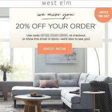 20% Off WEST ELM Entire Purchase Coupon Code FAST In Stores/online Exp  11/13 15 West Elm Customers Complain About Shoddy Sofas And Shipping Applying Discounts Promotions On Ecommerce Websites William Sonoma 10 Off Coupon Coshocton In Store Only 40 Off Sonos At West Elm Outlet Ymmv Sf Giants Coupon Race Pro Tax Coupons Shopping Deals Promo Codes December 2 Best Online Dec 2019 Honey Home Theater Gear Code Sears Coupons Shoes Presidents Day Theme With Ited Mt 20 Or Online Via Promo Free Cool Things To Buy