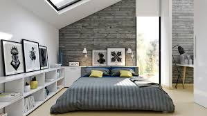 Pretty Loft Bedroom Furniture Idea With Low Platform Bed And Desk