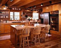log cabin kitchens homes kitchen lighting for track best cabins