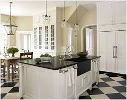 White Slab Kitchen Cabinets Comfortable Off With Black Countertops