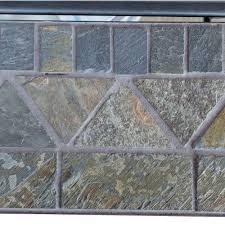 uniflame propane outdoor firebowl with slate tile mantel gad1429sp