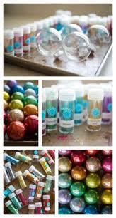 4 Step Easy DIY Rainbow Glitter Ornaments For Christmas Fun Craft Idea