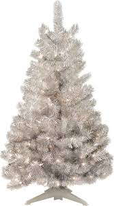 General Foam Plastics Mountain King Prelit Artificial Christmas Tree Silver 4 Foot