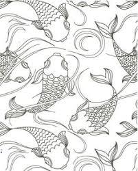 Koi Pond Fish Coloring Page