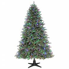 75 Ft Slim Christmas Tree by Color Switch Plus 7 5 Ft Prelit Sonoma Spruce Christmas Tree