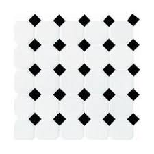 mohawk glasen octagon and dot mosaic floor or wall ceramic