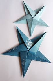 Learn To Make A Folded Paper Christmas Tree And An Origami Star Simple Quick Effective Decorations For