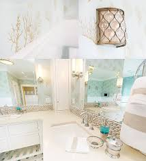Diy Beach Themed Bathroom Decor by Beach Themed Bathroom Loving The Brown And White With The Pop Of