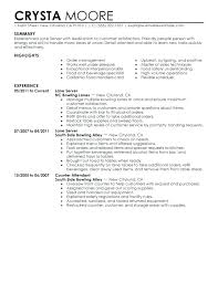 Resume Examples Server Example Servers Best Lane Intended For Experience