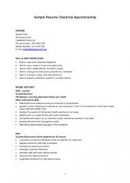 Electrician Apprentice Resume Examples For Study Shalomhouse New
