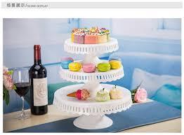 8 Inch 10 12 Ceramic Cake Stand Wedding White Pan Plate